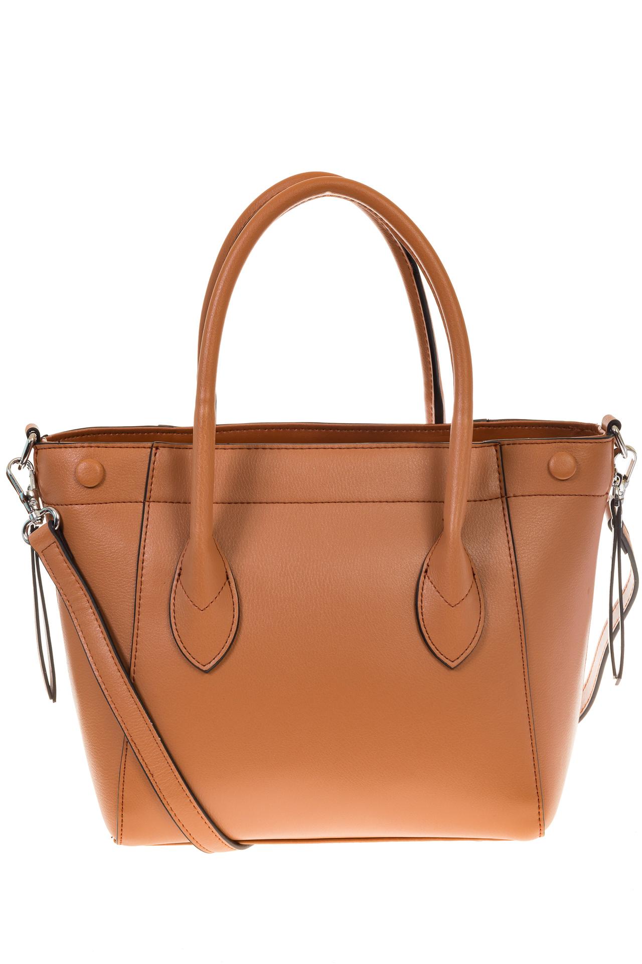 На фото 2 - Handbag из натуральной кожи рыжего цвета 6026MK5