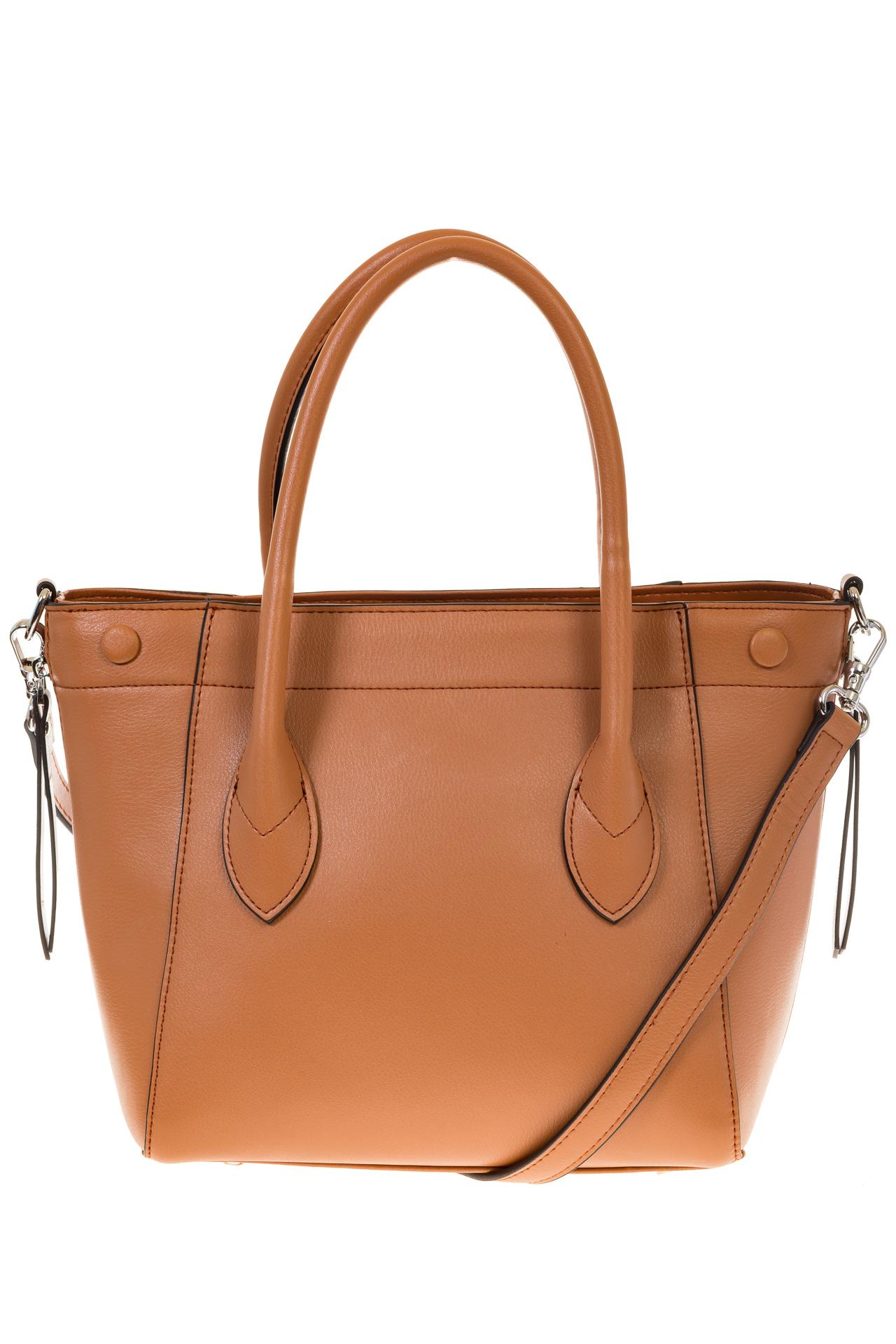 На фото 3 - Handbag из натуральной кожи рыжего цвета 6026MK5