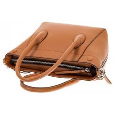 На фото 4 - Handbag из натуральной кожи рыжего цвета 6026MK5