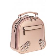 На фото 1 - Женский рюкзачок-трансформер из искусственной кожи, цвет розовый