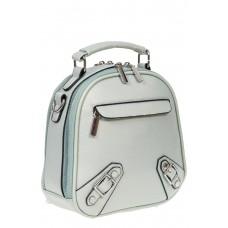 На фото 1 - Женский рюкзачок-трансформер из искусственной кожи, цвет светло-бирюзовый