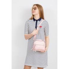 На фото 4 - Летняя сумка-малышка из натуральной кожи, цвет розовый