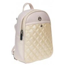 На фото 1 - Женский стёганый рюкзачок-трансформер из экокожи, цвет белый