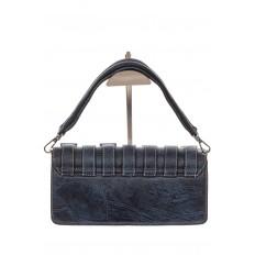 На фото 3 - Модная сумка багет из искусственной кожи, цвет синий