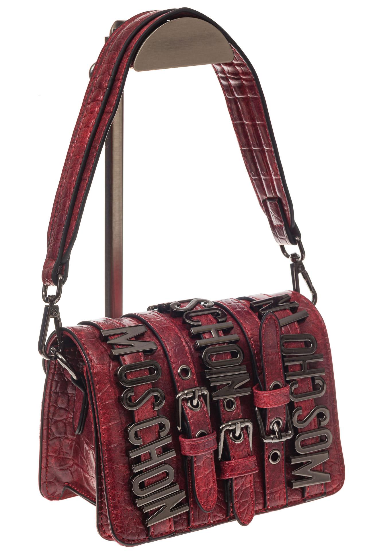 На фото 1 - Модная кросс-боди из искусственной кожи, цвет красный