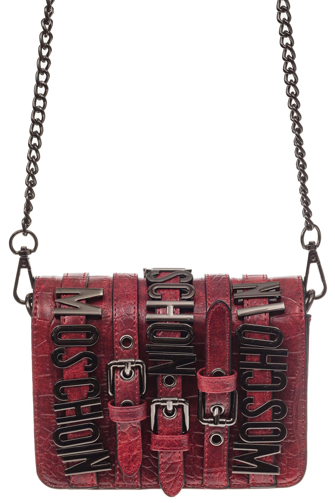 На фото 2 - Модная кросс-боди из искусственной кожи, цвет красный