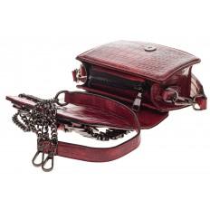На фото 4 - Модная кросс-боди из искусственной кожи, цвет красный