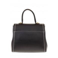 На фото 3 - Женская сумка-портфель черного цвета 606-6190AP