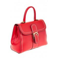 На фото 1 - Женская сумка-портфель красного цвета 606-6190AP