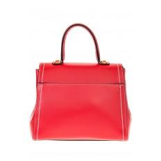 На фото 3 - Женская сумка-портфель красного цвета 606-6190AP