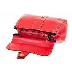На фото 4 - Женская сумка-портфель красного цвета 606-6190AP