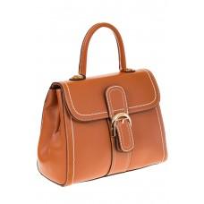 На фото 1 - Женская сумка-портфель коричневого цвета 606-6190AP
