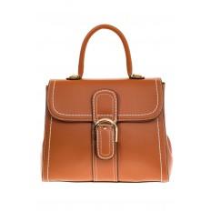 На фото 2 - Женская сумка-портфель коричневого цвета 606-6190AP