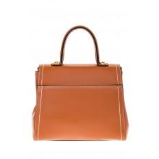 На фото 3 - Женская сумка-портфель коричневого цвета 606-6190AP