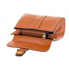 На фото 4 - Женская сумка-портфель коричневого цвета 606-6190AP