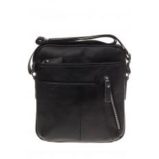На фото 2 - Мужская сумка с диагональным карманом из натуральной кожи