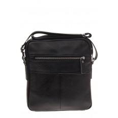 На фото 3 - Мужская сумка с диагональным карманом из натуральной кожи