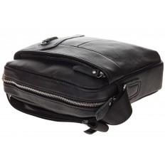 На фото 4 - Мужская сумка с диагональным карманом из натуральной кожи