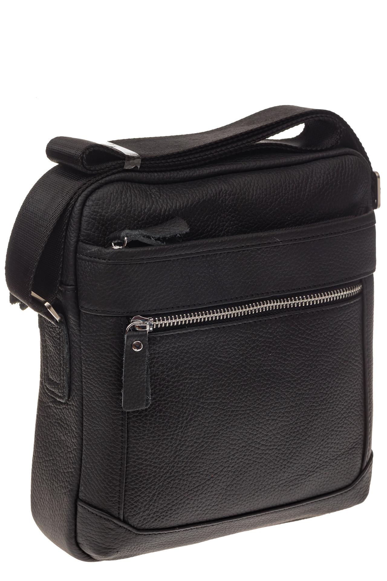 На фото 1 - Мужская сумка в форме квадрата из натуральной кожи