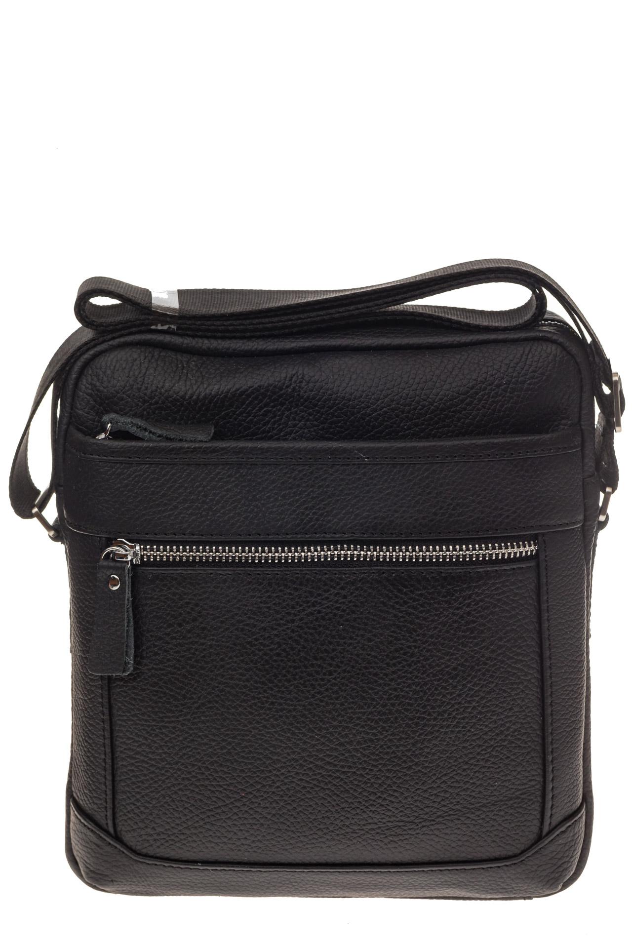 На фото 2 - Мужская сумка в форме квадрата из натуральной кожи
