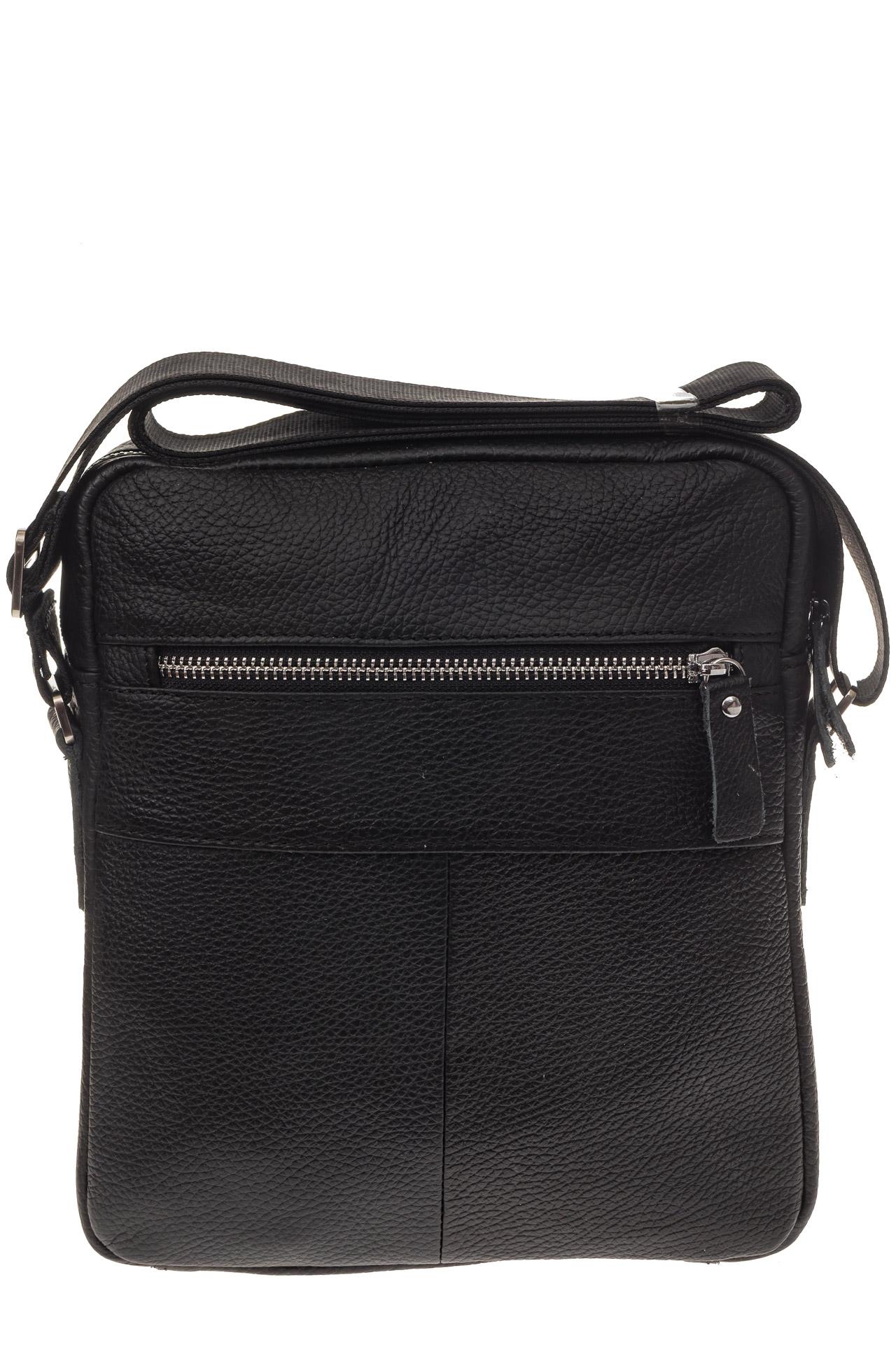 На фото 3 - Мужская сумка в форме квадрата из натуральной кожи