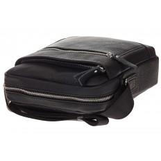 На фото 4 - Мужская сумка в форме квадрата из натуральной кожи