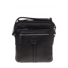 На фото 2 - Квадратная мужская сумка из натуральной кожи