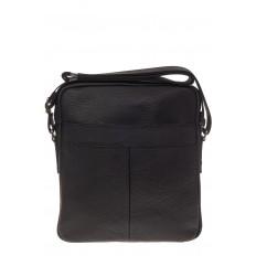 На фото 3 - Квадратная мужская сумка из натуральной кожи