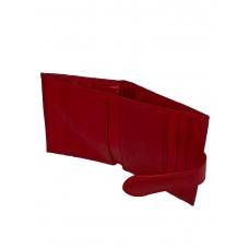 На фото 1 - Кошелёк-визитница из натуральной кожи, цвет красный