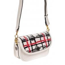 На фото 1 - Миниатюрная сумочка из искусственной кожи, цвет белый
