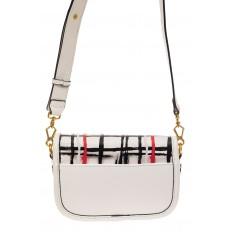 На фото 2 - Миниатюрная сумочка из искусственной кожи, цвет белый
