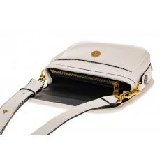 На фото 3 - Миниатюрная сумочка из искусственной кожи, цвет белый