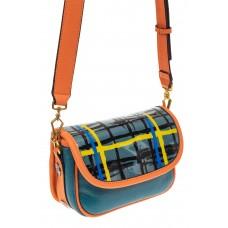 На фото 1 - Миниатюрная сумочка из искусственной кожи, цвет оранжевый