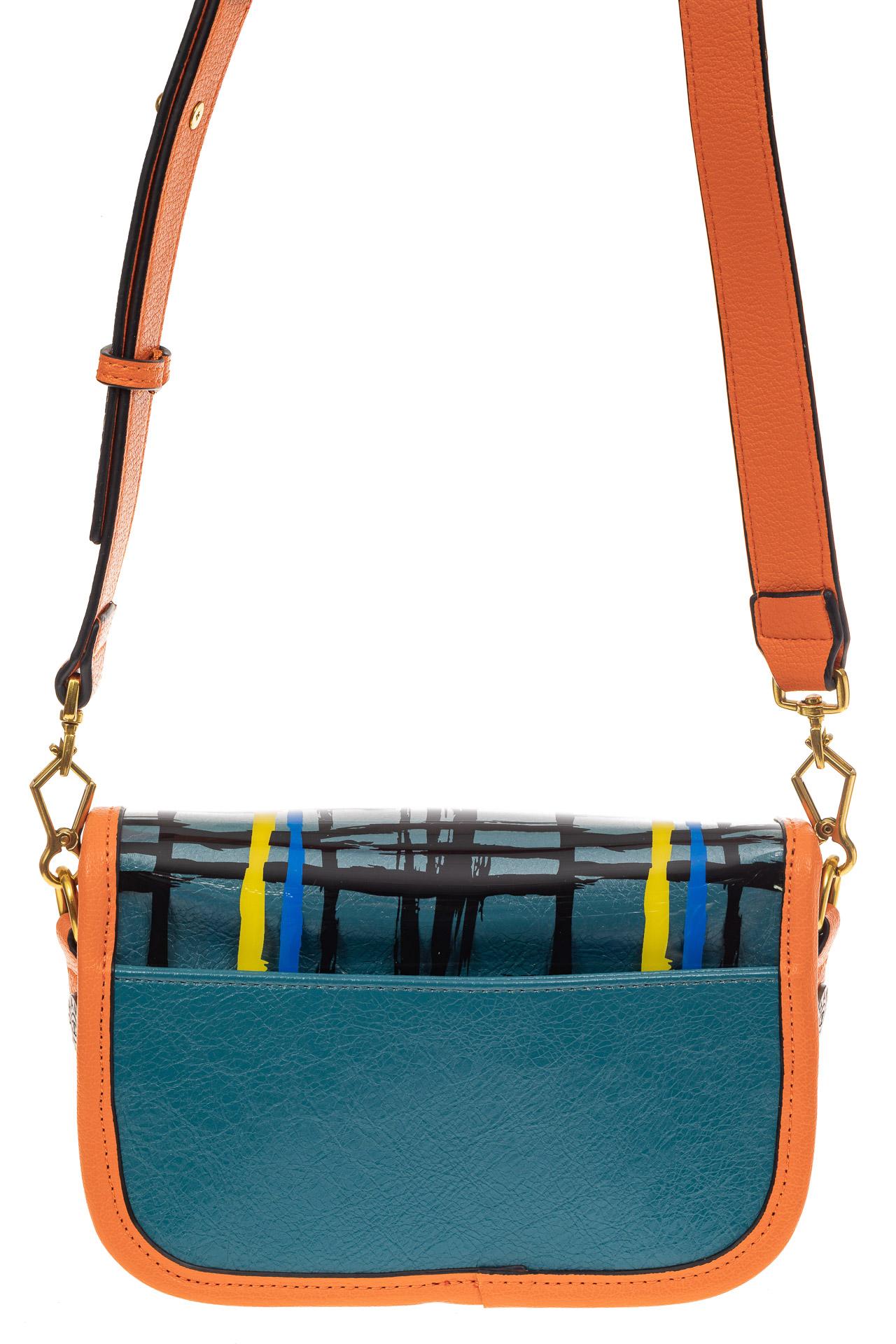 На фото 2 - Миниатюрная сумочка из искусственной кожи, цвет оранжевый