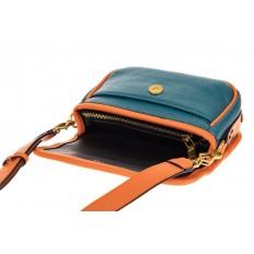На фото 3 - Миниатюрная сумочка из искусственной кожи, цвет оранжевый