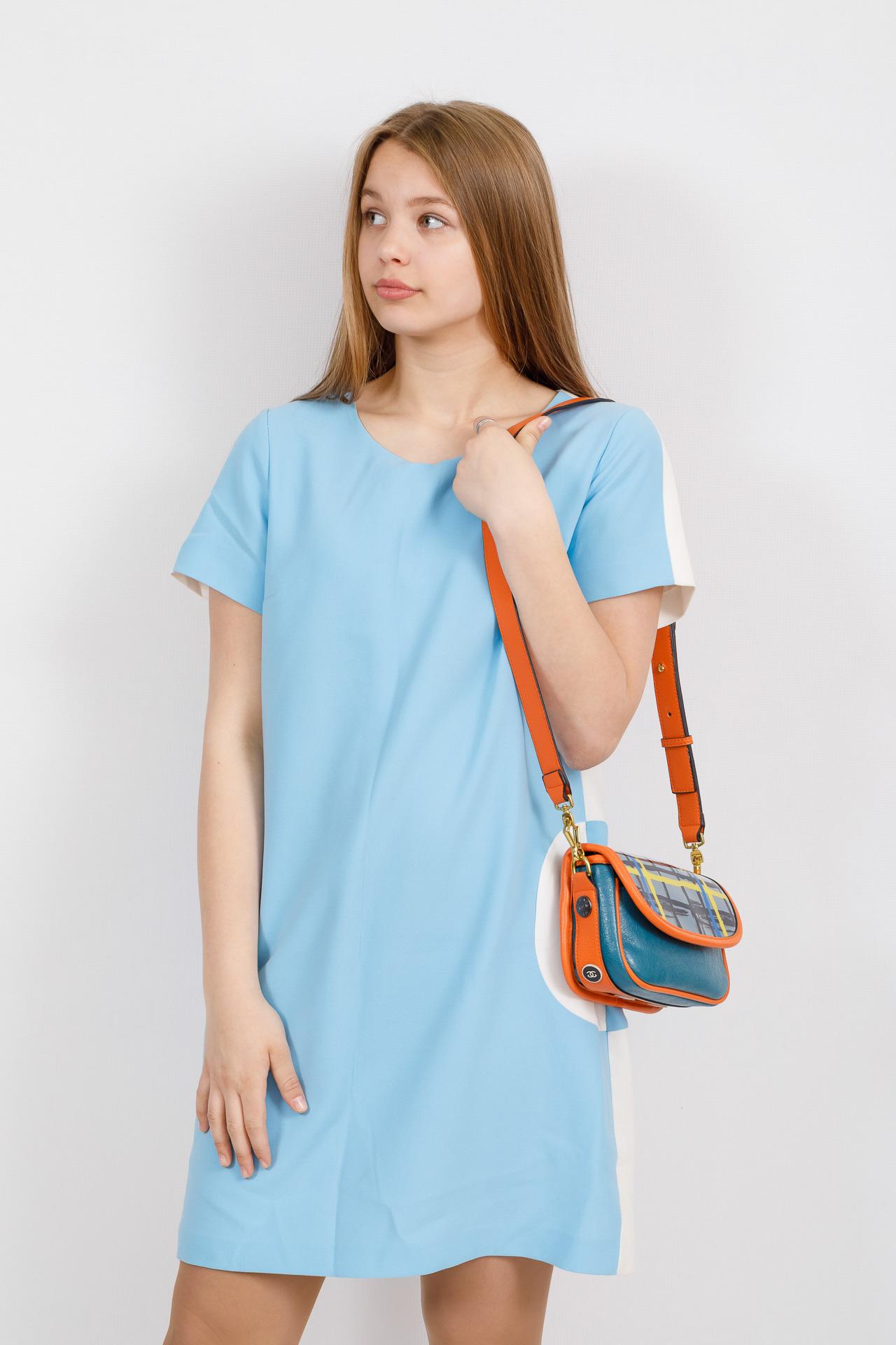 На фото 4 - Миниатюрная сумочка из искусственной кожи, цвет оранжевый