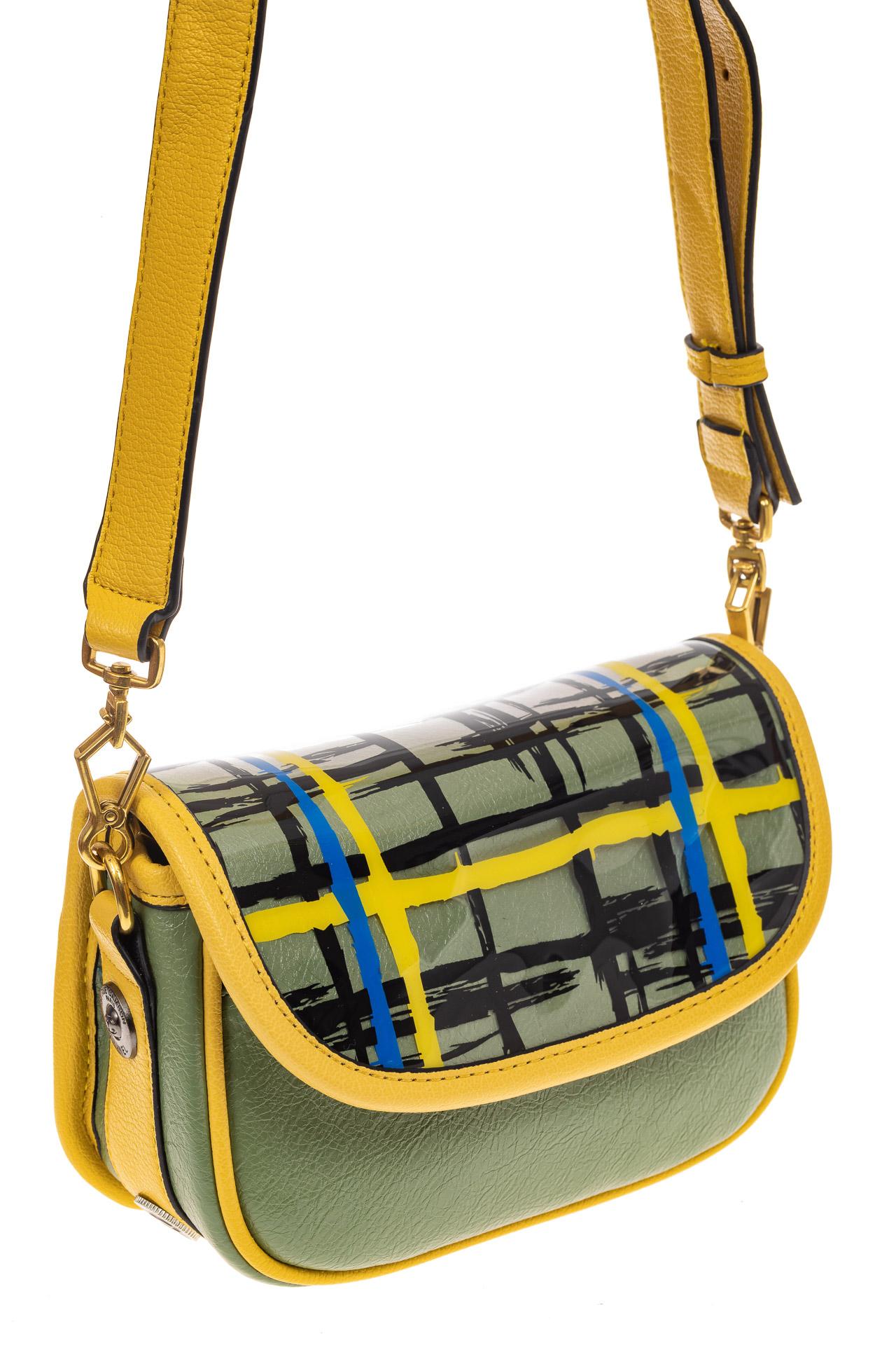 На фото 1 - Миниатюрная сумочка из искусственной кожи, цвет лимон