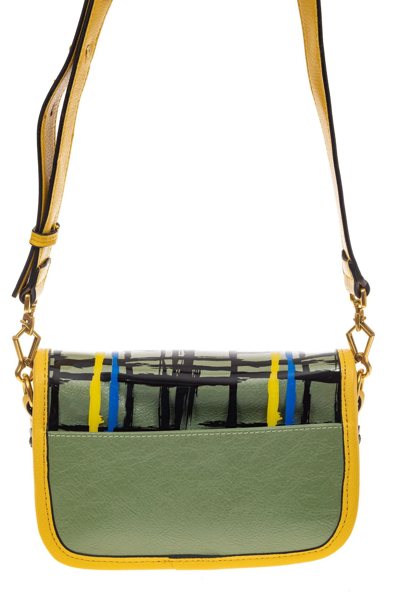 На фото 2 - Миниатюрная сумочка из искусственной кожи, цвет лимон