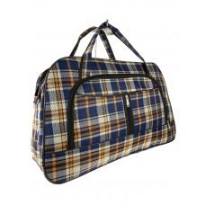 На фото 1 - Дорожная клетчатая сумка из текстиля, мультицвет
