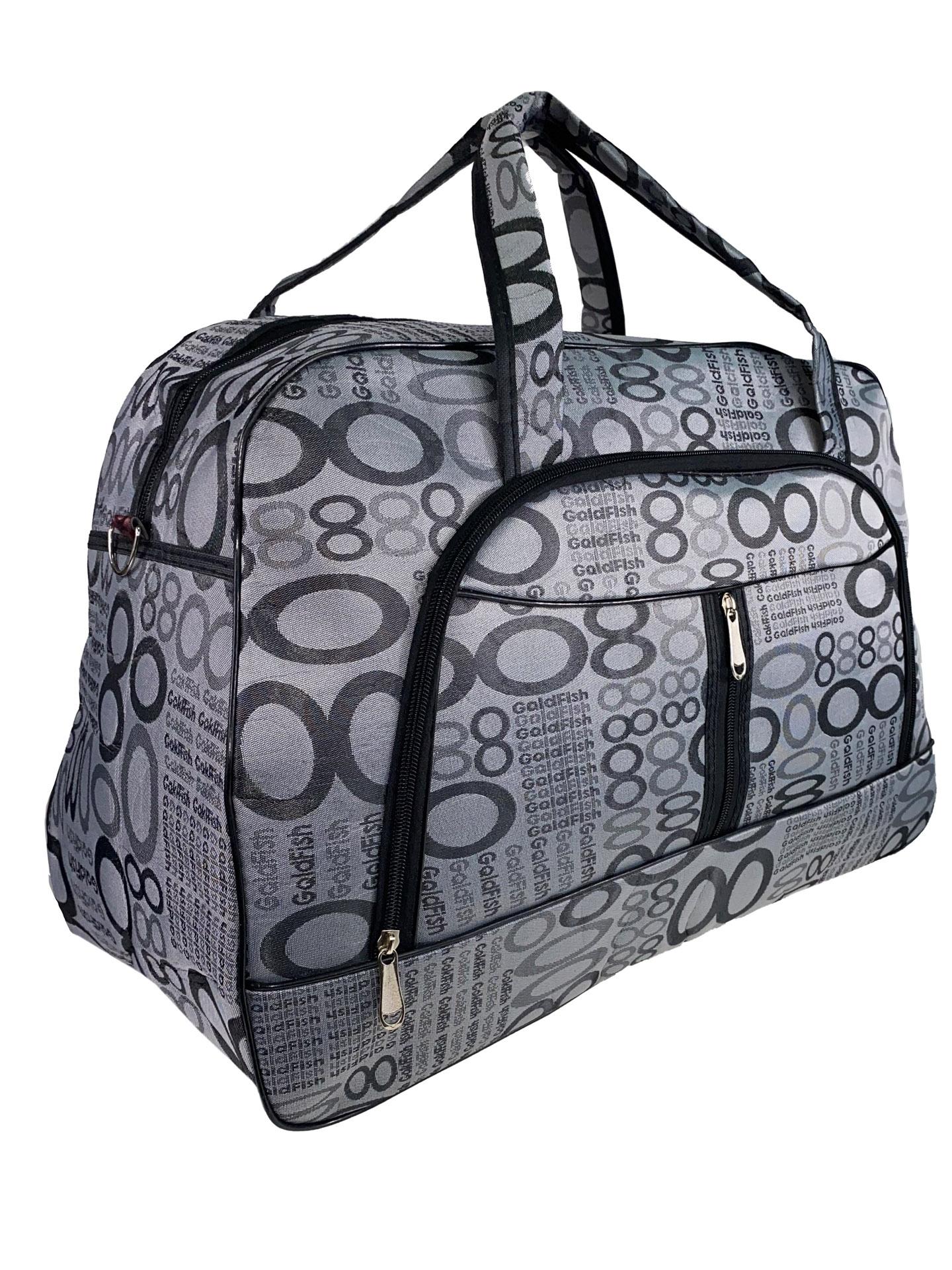 Женская дорожная сумка из текстиля с принтом, цвет серый60870DR1220/6