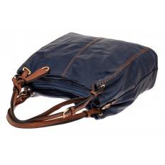 На фото 3 - Большая женская сумка из искусственной кожи, цвет синий