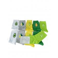 На фото 1 - Молодёжные носки с высокой резинкой и принтом, 10 пар,