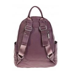 На фото 3 - Женский городской рюкзак цвета пудра 6107