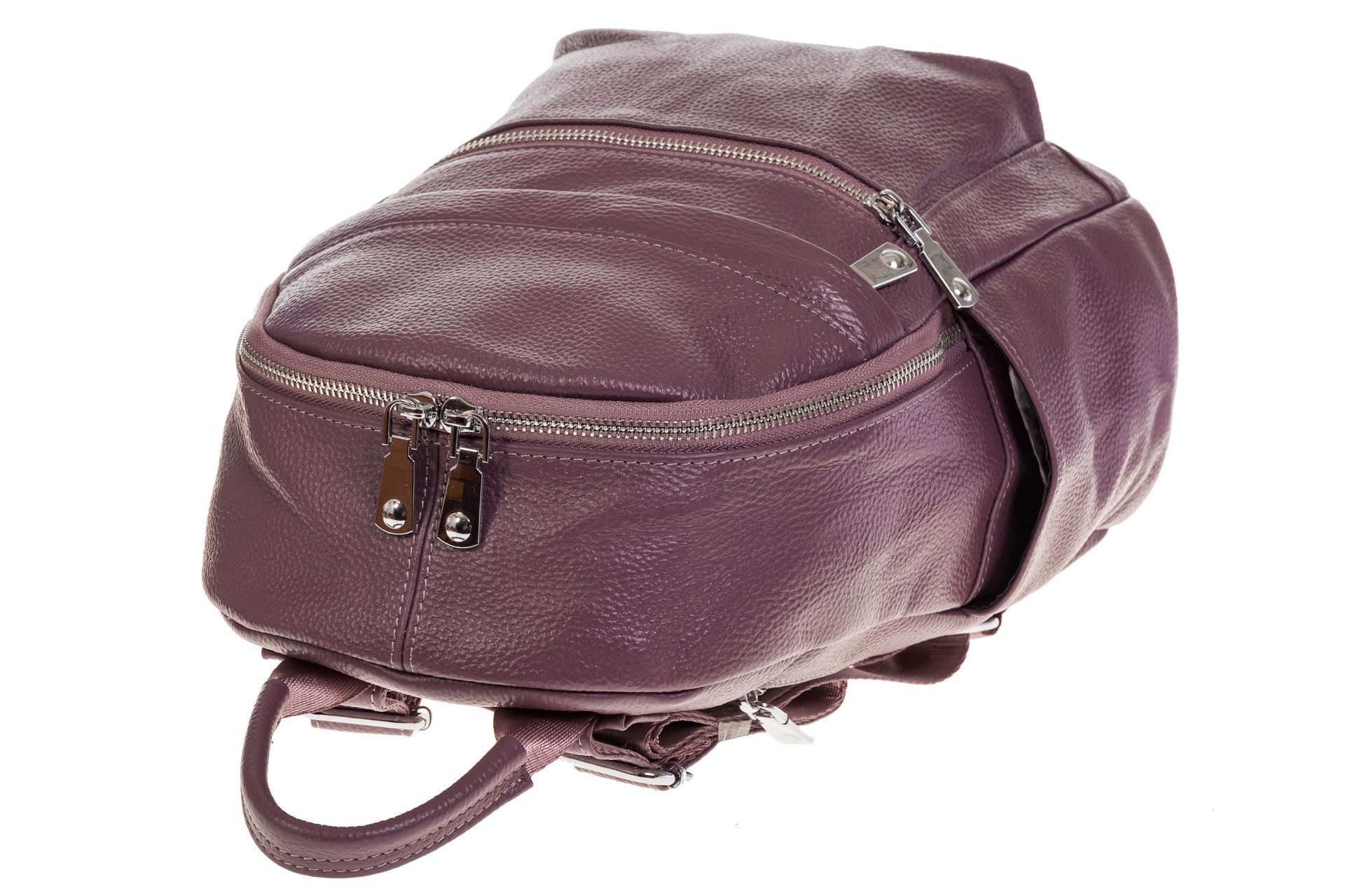 На фото 4 - Женский городской рюкзак цвета пудра 6107