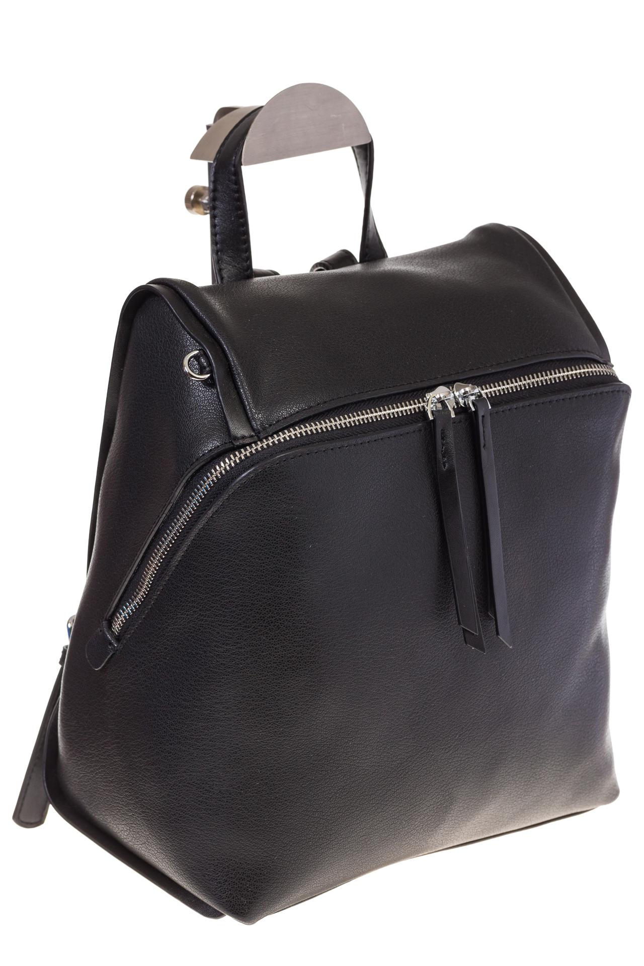 На фото 1 - Черный женский рюкзак из натуральной кожи 6115AR