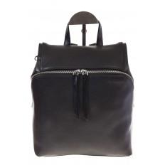 На фото 2 - Черный женский рюкзак из натуральной кожи 6115AR