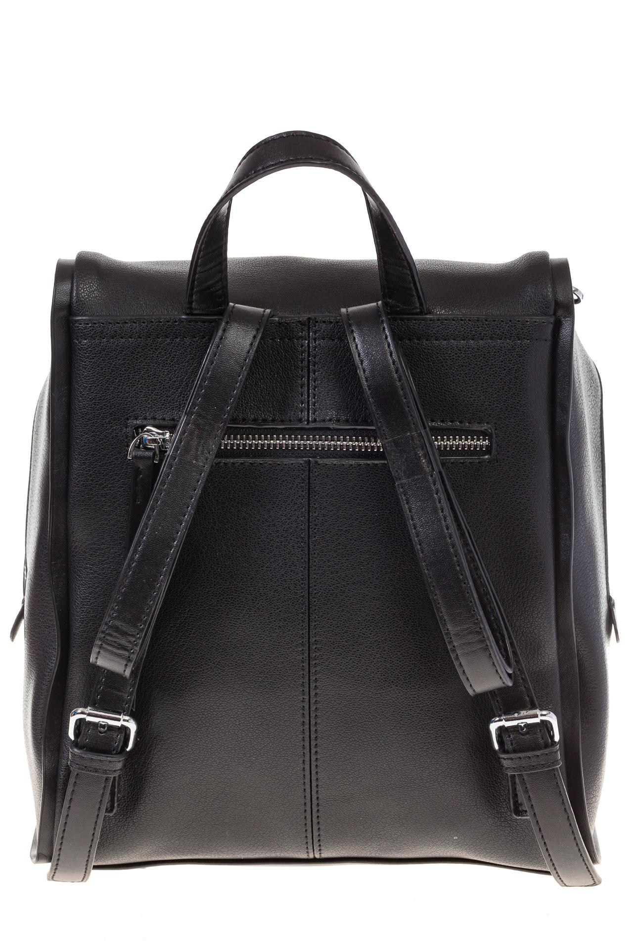 На фото 3 - Черный женский рюкзак из натуральной кожи 6115AR
