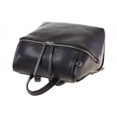На фото 4 - Черный женский рюкзак из натуральной кожи 6115AR