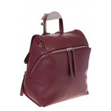 На фото 1 - Бордовый женский рюкзак из натуральной кожи 6115AR