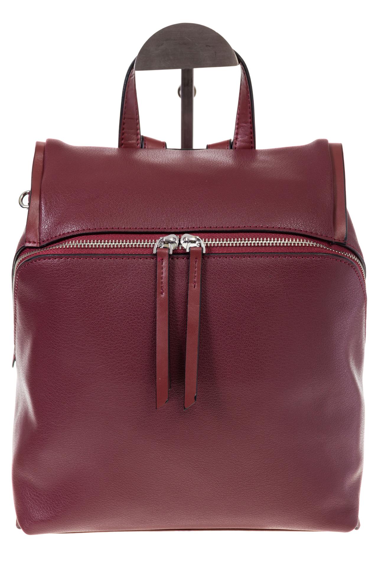 На фото 2 - Бордовый женский рюкзак из натуральной кожи 6115AR